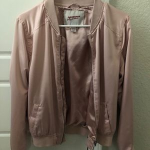 NEW Silky Pink Bomber Jacket